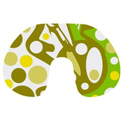 Green and yellow decor Travel Neck Pillows