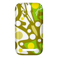 Green and yellow decor HTC One SV Hardshell Case