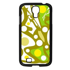 Green and yellow decor Samsung Galaxy S4 I9500/ I9505 Case (Black)