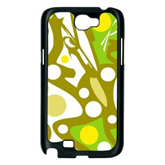 Green and yellow decor Samsung Galaxy Note 2 Case (Black)