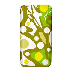 Green and yellow decor HTC Butterfly S/HTC 9060 Hardshell Case