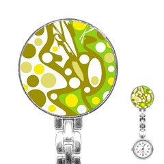 Green and yellow decor Stainless Steel Nurses Watch