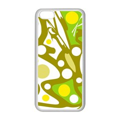 Green and yellow decor Apple iPhone 5C Seamless Case (White)