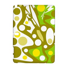 Green and yellow decor Samsung Galaxy Note 10.1 (P600) Hardshell Case