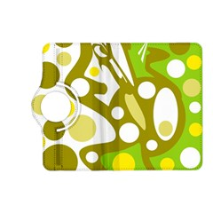 Green and yellow decor Kindle Fire HD (2013) Flip 360 Case