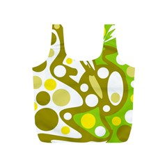 Green and yellow decor Full Print Recycle Bags (S)