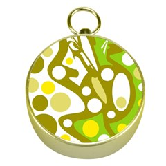 Green and yellow decor Gold Compasses