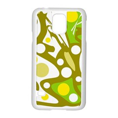 Green and yellow decor Samsung Galaxy S5 Case (White)