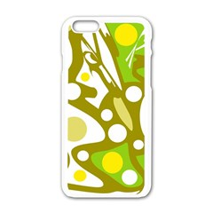 Green and yellow decor Apple iPhone 6/6S White Enamel Case