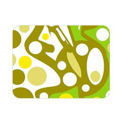 Green and yellow decor Double Sided Flano Blanket (Mini)