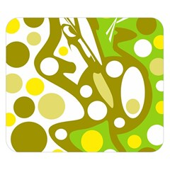 Green and yellow decor Double Sided Flano Blanket (Small)