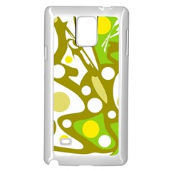 Green and yellow decor Samsung Galaxy Note 4 Case (White)