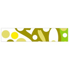 Green and yellow decor Flano Scarf (Small)