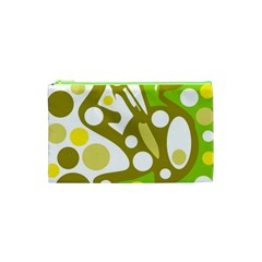 Green and yellow decor Cosmetic Bag (XS)
