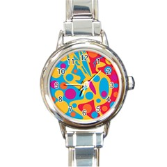 Colorful decor Round Italian Charm Watch