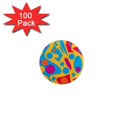 Colorful decor 1  Mini Magnets (100 pack)