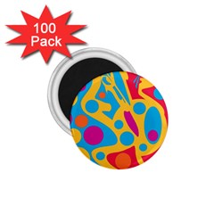 Colorful decor 1.75  Magnets (100 pack)