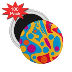 Colorful decor 2.25  Magnets (100 pack)