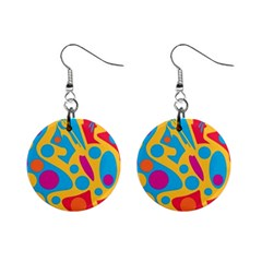 Colorful decor Mini Button Earrings