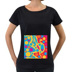 Colorful decor Women s Loose-Fit T-Shirt (Black)