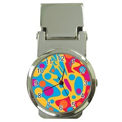 Colorful decor Money Clip Watches