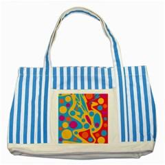Colorful decor Striped Blue Tote Bag