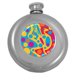 Colorful decor Round Hip Flask (5 oz)