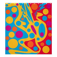 Colorful decor Shower Curtain 66  x 72  (Large)