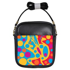 Colorful decor Girls Sling Bags