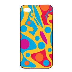 Colorful decor Apple iPhone 4/4s Seamless Case (Black)