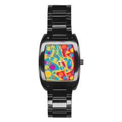 Colorful decor Stainless Steel Barrel Watch