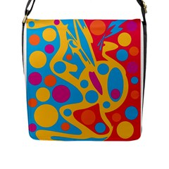 Colorful decor Flap Messenger Bag (L)