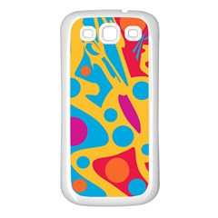 Colorful decor Samsung Galaxy S3 Back Case (White)