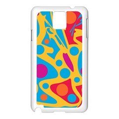 Colorful decor Samsung Galaxy Note 3 N9005 Case (White)