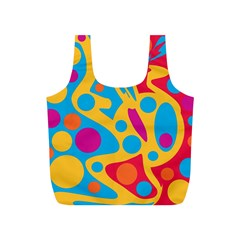 Colorful decor Full Print Recycle Bags (S)