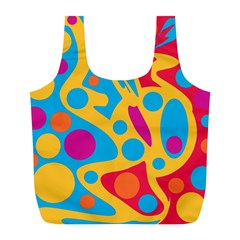 Colorful decor Full Print Recycle Bags (L)