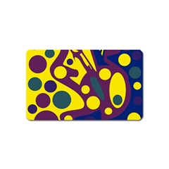 Deep blue and yellow decor Magnet (Name Card)