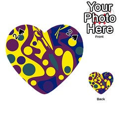 Deep blue and yellow decor Playing Cards 54 (Heart)
