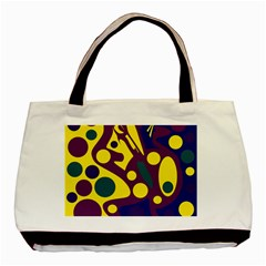 Deep blue and yellow decor Basic Tote Bag (Two Sides)
