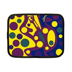 Deep blue and yellow decor Netbook Case (Small)