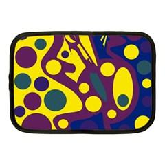 Deep blue and yellow decor Netbook Case (Medium)