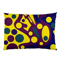 Deep blue and yellow decor Pillow Case