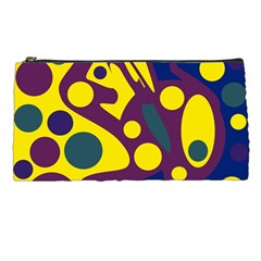 Deep blue and yellow decor Pencil Cases