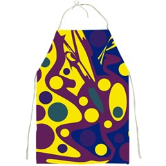Deep blue and yellow decor Full Print Aprons