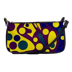 Deep blue and yellow decor Shoulder Clutch Bags