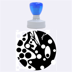 Deep blue and yellow decor Rubber Round Stamps (Large)