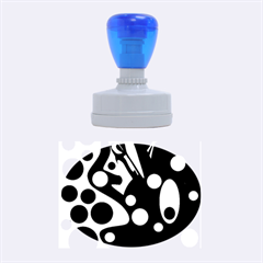 Deep blue and yellow decor Rubber Oval Stamps