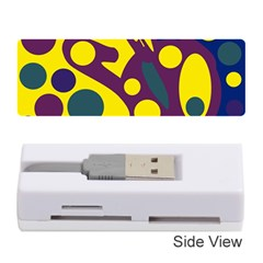 Deep blue and yellow decor Memory Card Reader (Stick)