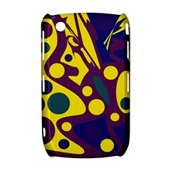 Deep blue and yellow decor Curve 8520 9300