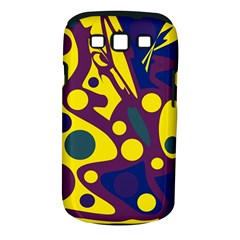 Deep blue and yellow decor Samsung Galaxy S III Classic Hardshell Case (PC+Silicone)
